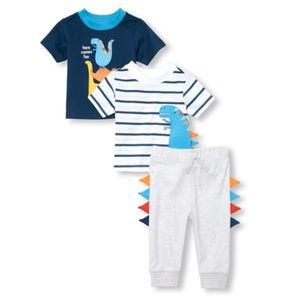 NWT Children's Place Dino 3pc Set Boy 18-24mo